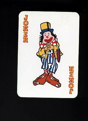 Vintage Joker Swap/Playing Card CLOWN IN COSTUME 50TH ANNIVERSARY SINAPORE AIR