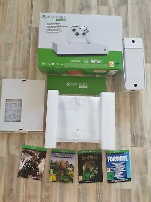 Microsoft Xbox One S 1 TB All-Digital New with 1 controller and 4 games.