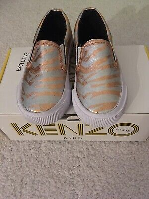 Kenzo Kids Exclusive Edition Slip On Trainers Size 25 New