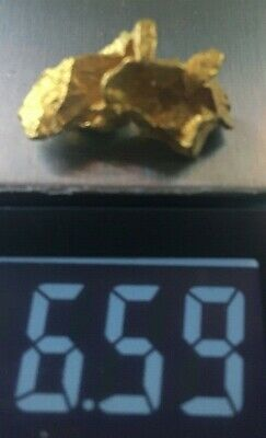 Natural Australian Faceted Crystalline Gold Nuggets Very High Purity 6.59 grams