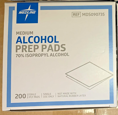 200 Alcohol Medium Disposable Prep Pad Sterile, Alcohol Swabs Pads Wipes