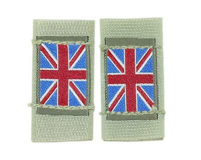 Pair British Army Surplus MTP Velcro Union Jack Badge Osprey
