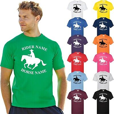 Personalised Printed Horse Riding Adults & Kids T-Shirt T Shirt Tee Unisex Tops