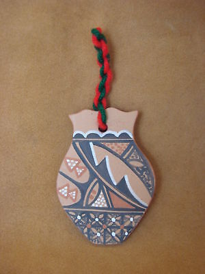 Jemez Pueblo Handmade Clay Christmas Ornament by B.J. Toya