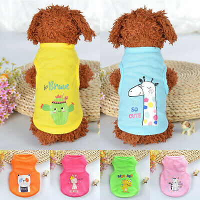 Pet Clothing Cute Vest Dog Puppies Cat Dog Summer Clothes Baby Dog Cat Clothes