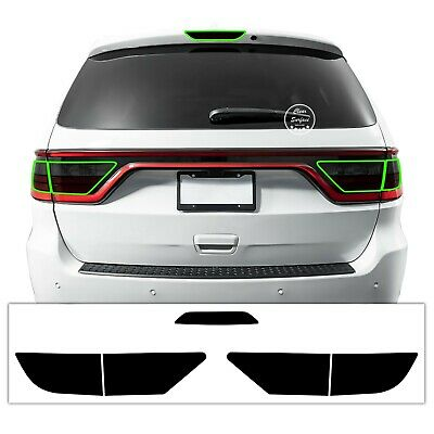 Fits Dodge Durango 2014-2020 Tail Third Brake Light Precut Smoked Tint Overlay