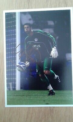 Mike Pollitt Wigan Hand Signed 7x5 bordered photo Autograph