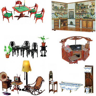 Dollhouses & Furniture Clever Paper 3D-Puzzles Toy Cardboard model Kit Umbum