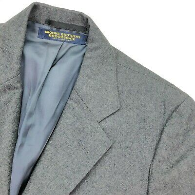 VTG Brooks Brothers Men's Gray Flannel Wool 3/2 Roll Jacket/Blazer • Size 38S