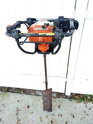 Stihl BT-121  Earth Auger BT121 fence post drilling