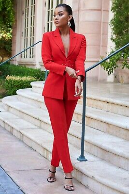 Club London Red Tailored Trouser Suit 8 ASOS