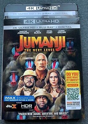 Jumanji The Next Level 4K + Bluray (No Digital) with Sleeves cover New untouched