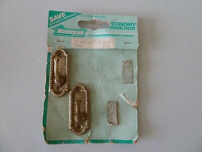 VINTAGE BRASS CURTAIN TIE BACK HOOKS x 2 - PROP DISPLAY COLLECTIBLE
