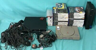 Huge PlayStation Bundle - PS1, PS2, PS3 Consoles - Games Controllers Accessories