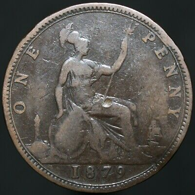 1879 | Victoria One Penny | Bronze | Coins | KM Coins