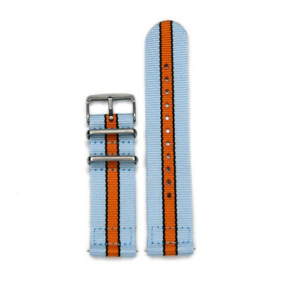 Smart Watch 22mm Two-Piece Gulf Racing Inspired Colors Strap Nylon Watch Band