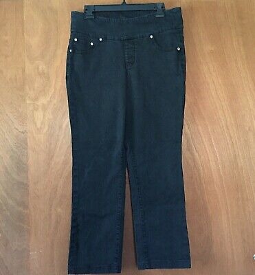 Jag Jeans pull on style Leggings High Rise Women's Size 14 Stretch Black Pants