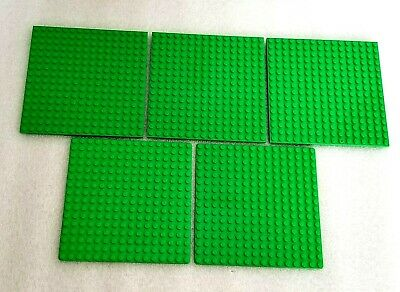 "Lot Of 24 LEGO 16 x 16 stud 5/"" square flat plates  ~ Light Green"
