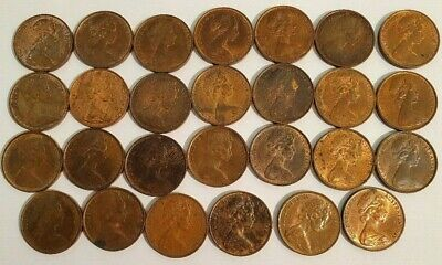 AU - 27x TWO CENT COINS - 1966 to 1969 - Some with lovely patina