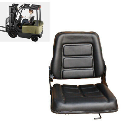 Durable Leather Forklift Seat Adjustable Bobcat Tracto Chair Excavator Machinery