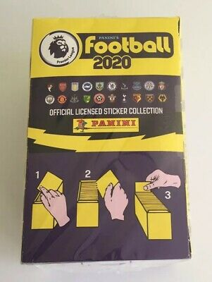 NEW Panini Football 2020 Premier League 100 Sticker Packets Full Box Sealed