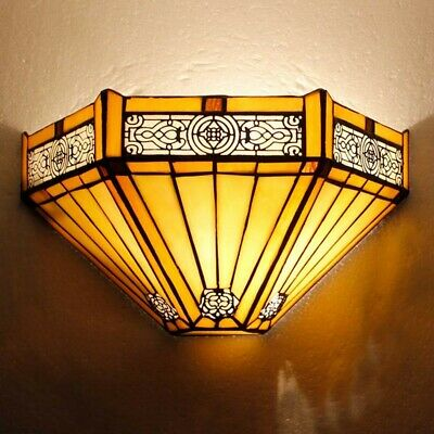 Tiffany Style Wall Lamp Night Lamps Stained Glass Uplighter Handcrafted Light