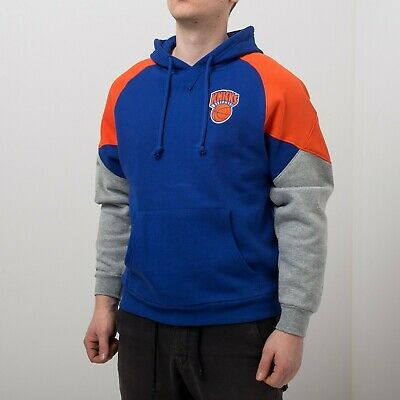 Mitchell & Ness NBA New York Knicks Trading Block Hoodie Men's Blue Activewear