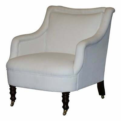 Rrp £4400 George Smith Shop Display Fairfield Armchair Calico Linen Upholstery