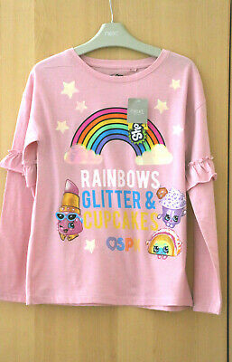 Next Girls Pink Shopkins Top Age 10Years BNWT