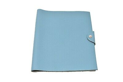 Authentic Hermes Blue Jean Ulysse MM Agenda Cover