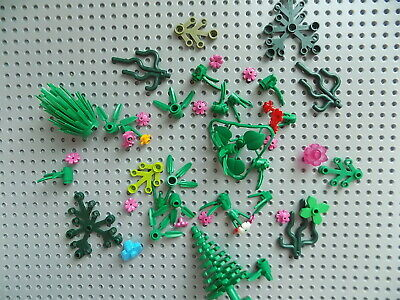 50 Pieces LEGO FOLIAGE PARTS Trees Bushes Plants Flowers Leaves Branches a
