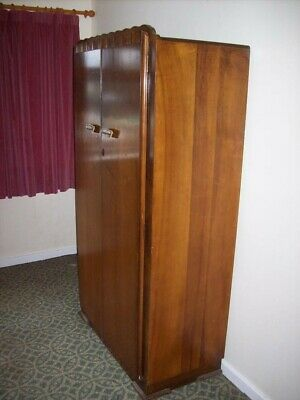 art deco gentlemans wardrobe original