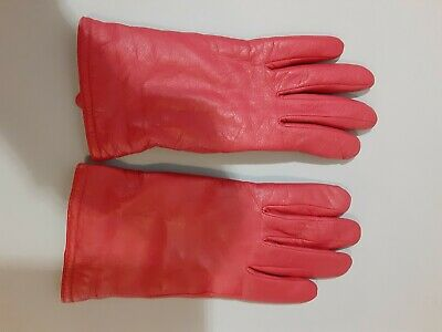 Ladies Red Leather Thinsulate 40g Gloves XLarge
