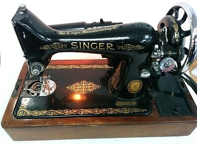 Singer Model 99K Sewing Machine With Case Working Instructions Attachments #565