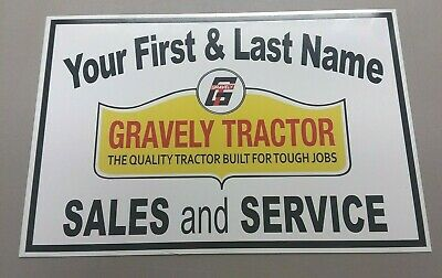Personalized Gravely Tractor Aluminum Name Sign