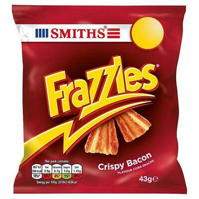 SMITHS Frazzles Crispy Bacon Flavour Snacks Crisps 30 x 34g Bags Packets