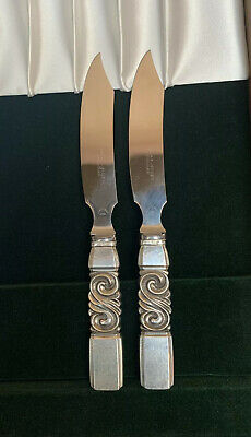 Georg Jensen Scroll Sterling Silver Steal Knives (sold individually)