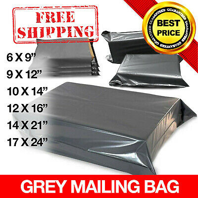 STRONG GREY POSTAGE MAILING BAGS 100% RECYCLABLE Self Seal Plastic