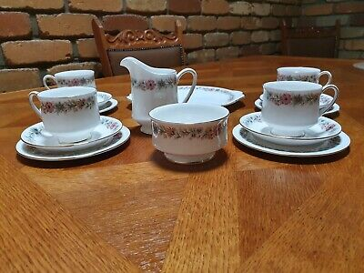 Vintage Paragon English Bone China Belinda Pattern Tea Set 15 Piece