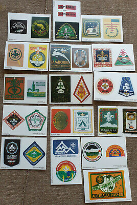 Scout Jamboree postcards, a set of all Australian & World Jamborees till 1988