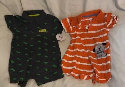 Set Of 2 Child Of Mine Toddler  Boys 1 Pc Collared Romper 18 Months 1 NWT