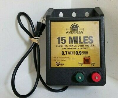 AMERICAN FARM WORKS - 15 Mile AC Low Impedance Electric Fence Controller