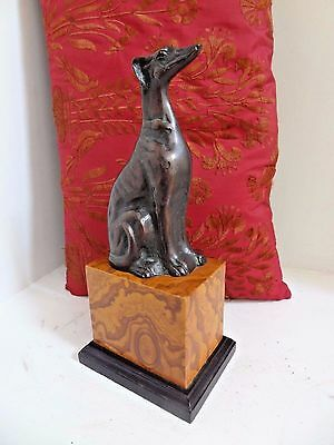 Vintage Toyo Bronze Dog Statue / Bookend - Nice!!!