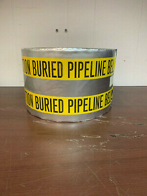 """Detectable Buried Pipeline Tape 6"""" x 1000'"""