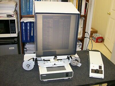 Indus 4601-11 microfilm reader motorized