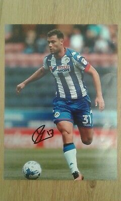 Yanic Widsschut Wigan Athletic Hand Signed 7x5 bordered photo Autograph