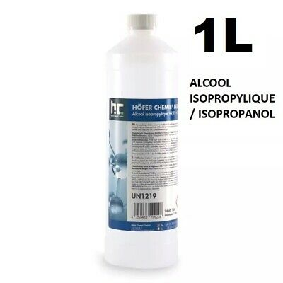 1 Litre | Alcool Isopropylique 99.9% / Isopropanol | Ipa | 1L
