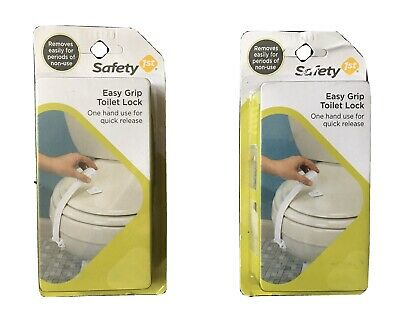 Safety 1st Easy Grip Toilet Lock/ One- Handed For Quick Release Lot Of 2