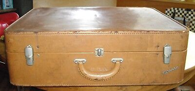"Vintage WHEARY Light Brown 23"" Suitcase ~"