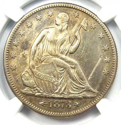 1873 Arrows Seated Liberty Half Dollar 50C - NGC AU Details - Rare Coin!